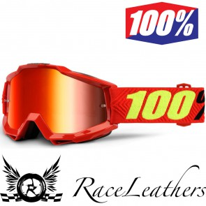 100% Goggles Accuri Saarinen Mirror Red Lens