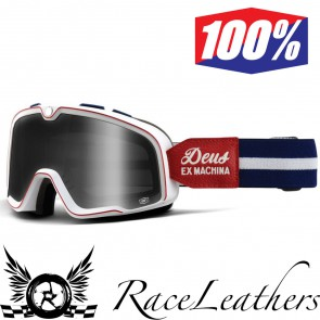 100% Goggles Barstow Deus Ex Machina New Smoke Lens