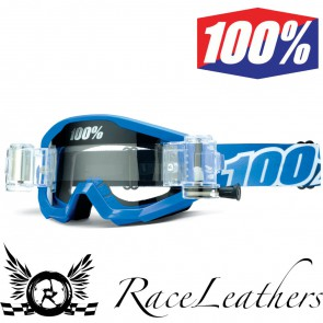 100% Goggles Strata SVS Blue Clear Lens