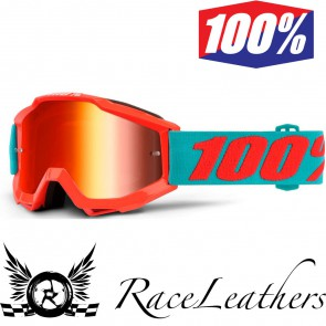 100% Accuri Goggles Youth Passion Orange With Mirror Red Lens