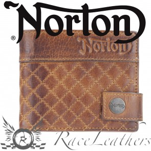 Norton Tan/Brown Quilted Pattern Wallet