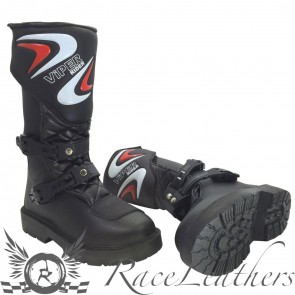 Viper Kids Black MX Boots 28