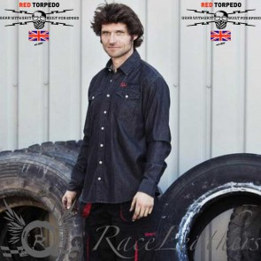Red Torpedo RT Indian Shirt Black Denim