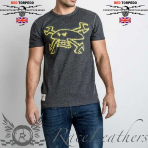 Red Torpedo Spanner Swarm T Shirt Anthracite