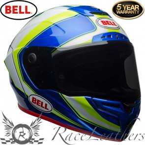 Bell Race Star Sector White Hi-Viz Green Blue