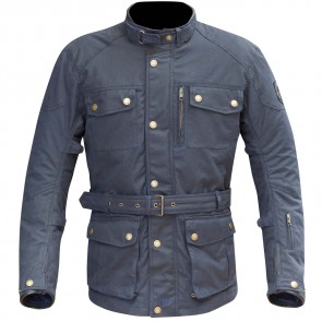 Merlin Atlow Wax Jacket Blue