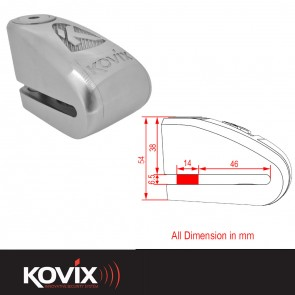 Kovix 14mm KAL Alarm Disc Lock