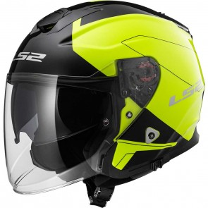 LS2 OF521 Infinity Beyond Black Hi-Vis Yellow