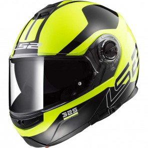 LS2 FF325 Strobe Zone Black Hi Vis Yellow