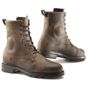 TCX X-Blend Brown Urban Vintage Leather Motorcycle Boots