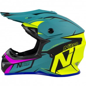 Nitro MX620 Junior Podium Teal Yellow Pink Satin