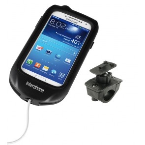 Interphone Galaxy S4 Mobile Phone Holder For Tubular Motorcycle Handlebars
