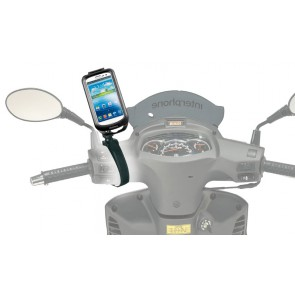 Interphone Galaxy S3 Mobile Phone Holder For Non Tubular Motorcycle Handlebars