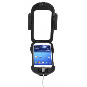Interphone Galaxy S4 Mobile Phone Holder For Non Tubular Motorcycle Handlebars