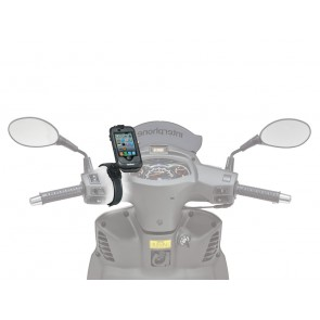 Interphone IPHONE 4 Black Motorcycle Holder Mount For Non Tubular Handlebars