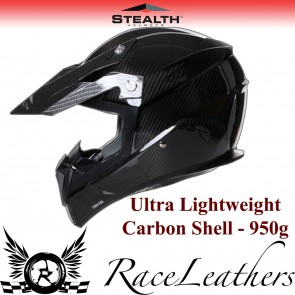 Stealth Helmet HD210 MX Carbon Fibre