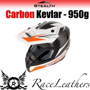 Stealth Helmet HD210 MX Carbon Stealth GP Replica Orange