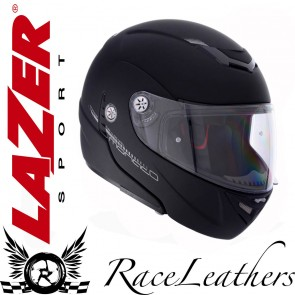Lazer Monaco Pure Glass Matte Black Helmet