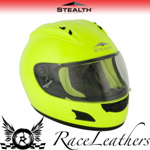 Stealth Helmet HD118 Full Face Yellow Fluo