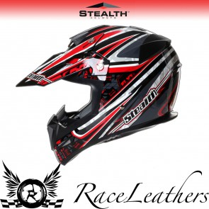 Stealth Helmet HD210 MX Red Droid