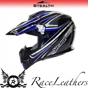 Stealth Helmet HD210 MX Blue Droid