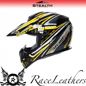 Stealth Helmet HD210 MX Yellow Droid