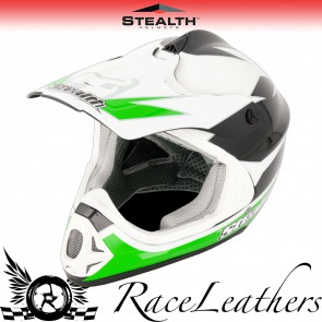 Stealth Helmet HD204 MX Stealth GP Replica Green