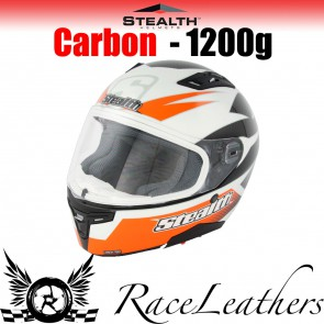 Stealth Helmet HD117 Full Face Carbon Stealth GP Replica Orange