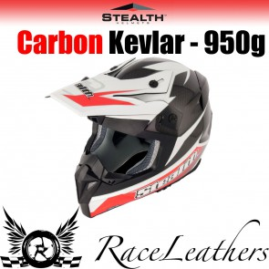 Stealth Helmet HD210 MX Carbon Stealth GP Replica Red