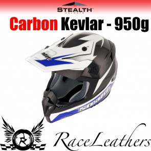 Stealth Helmet HD210 MX Carbon Stealth GP Replica Blue