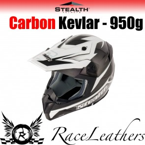 Stealth Helmet HD210 MX Carbon Stealth GP Replica  Black