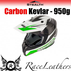 Stealth Helmet HD210 MX Carbon Stealth GP Replica Green