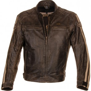 Richa Retro Racing Leather Jacket Brown