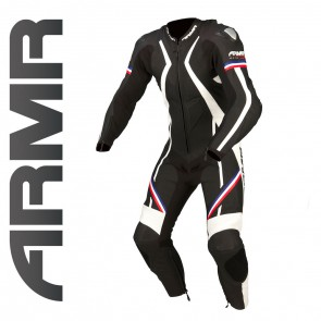 ARMR Harada R Leather Suit Black / Blue / Red