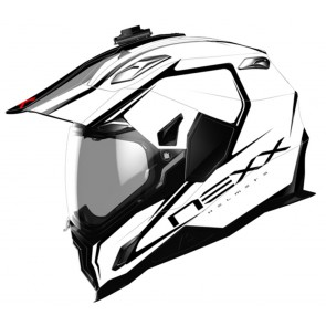 NEXX X.D1 VOYAGER WHITE BLACK ADVENTURE ENDURO HELMET