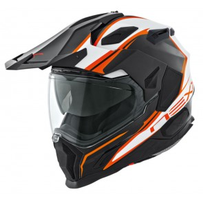 NEXX X.D1 VOYAGER WHITE BLACK ORANGE ADVENTURE ENDURO HELMET