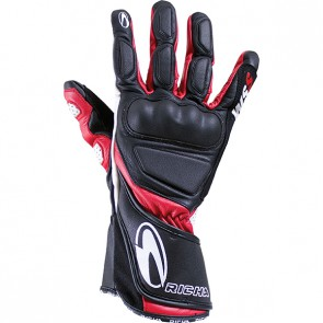 RICHA WS LEATHER GLOVES BLACK RED