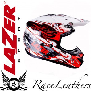 Lazer X7 Skelter Red Helmet