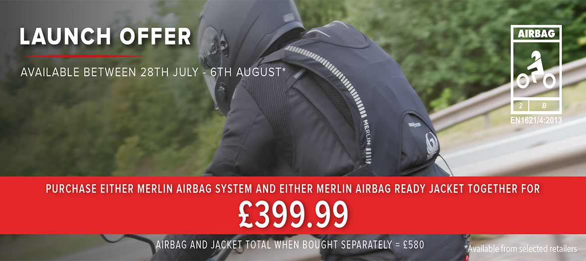 Merlin Motorcycle Airbag Jacket Launch Offer